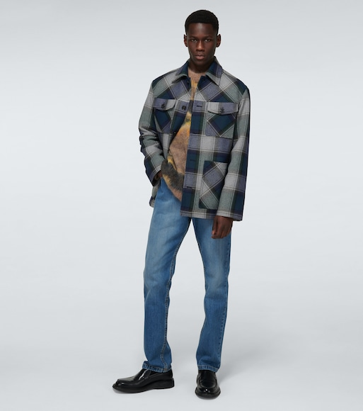 Acne Studios - Ozro checked twill overshirt - mytheresa.com