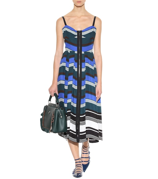 Fendi - Striped cotton dress - mytheresa.com