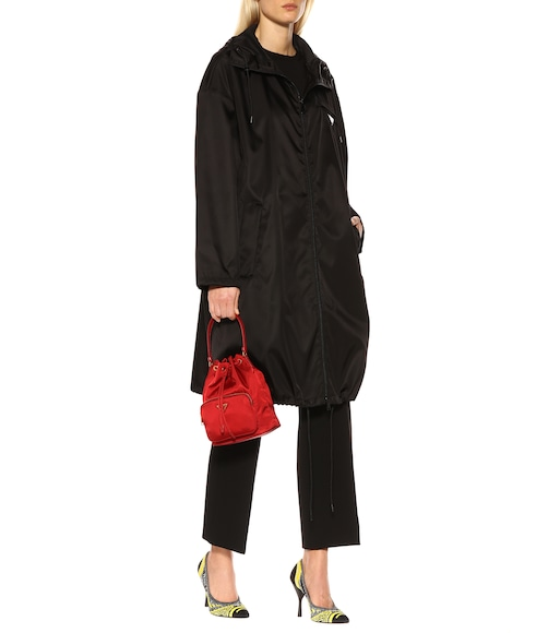 Prada - Hooded nylon coat - mytheresa.com