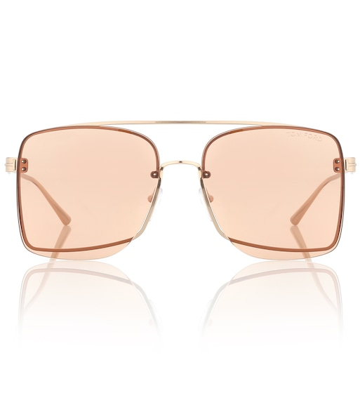 Tom Ford - Square metal sunglasses - mytheresa.com