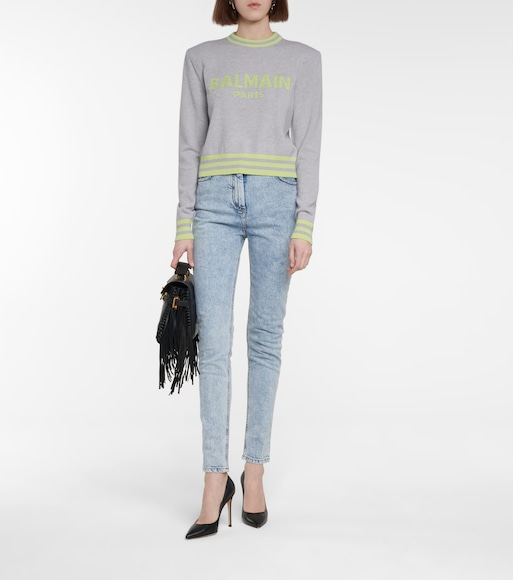 Balmain - Logo wool and cashmere-blend sweater - mytheresa.com