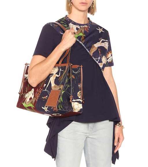 Loewe - Paula's Ibiza Cushion Medium printed shopper - mytheresa.com