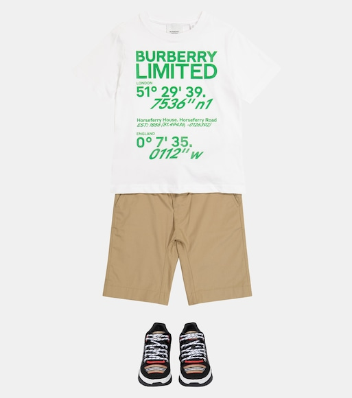 Burberry Kids - Logo cotton T-shirt - mytheresa.com