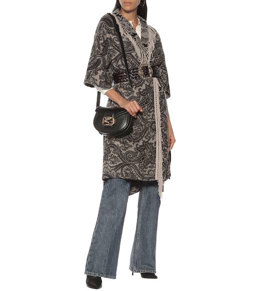Etro - Paisley brushed wool-blend cape - mytheresa.com