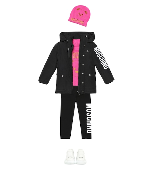 Moschino Kids  - Embroidered cotton-blend beanie - mytheresa.com
