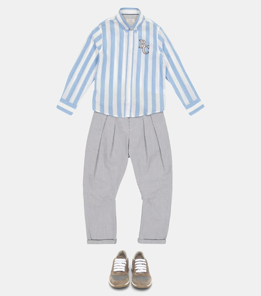 Brunello Cucinelli Kids - Striped cotton shirt - mytheresa.com