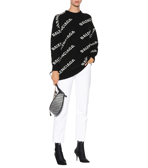 Balenciaga - Intarsia wool-blend sweater - mytheresa.com