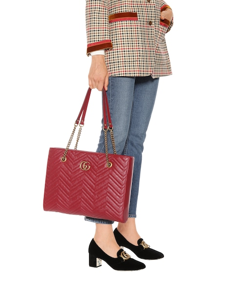 Gucci - GG Marmont Medium matelassé leather tote - mytheresa.com