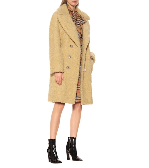 Burberry - Wool-blend teddy coat - mytheresa.com