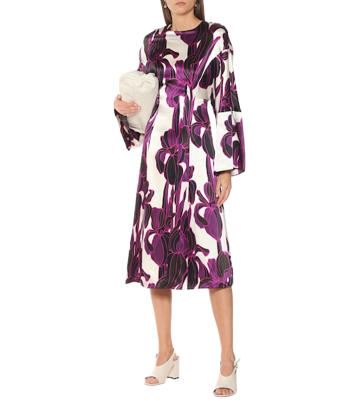 Dries Van Noten - Floral silk midi dress - mytheresa.com