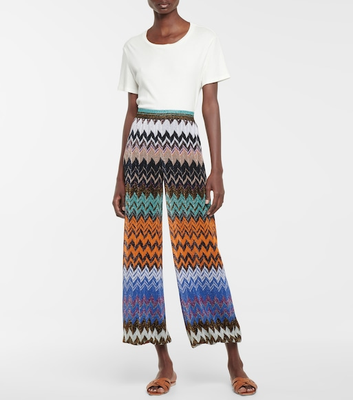 Missoni - High rise knit pants - mytheresa.com