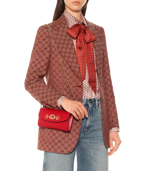 Gucci - Zumi leather shoulder bag - mytheresa.com