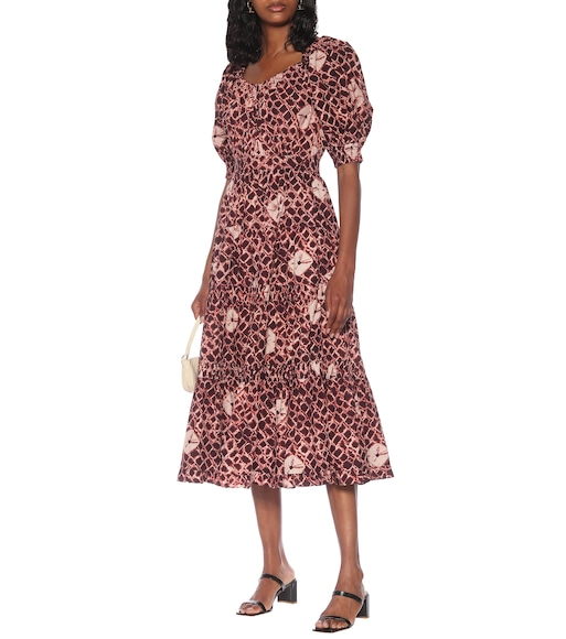 Ulla Johnson - Colette floral cotton-poplin midi dress - mytheresa.com