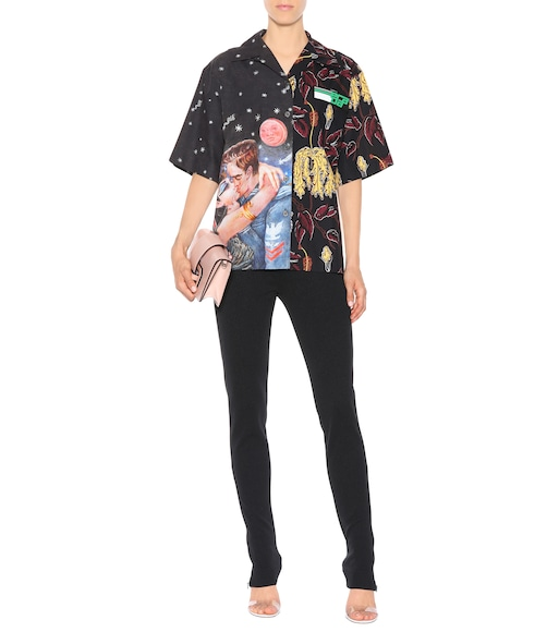 Prada - Printed cotton shirt - mytheresa.com