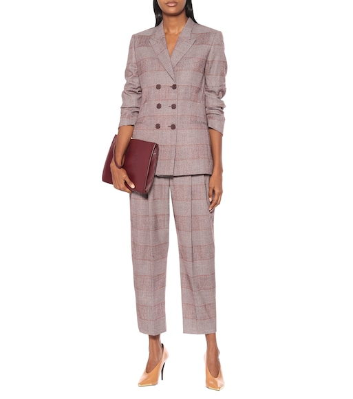 Stella McCartney - Double-breasted wool-blend blazer - mytheresa.com