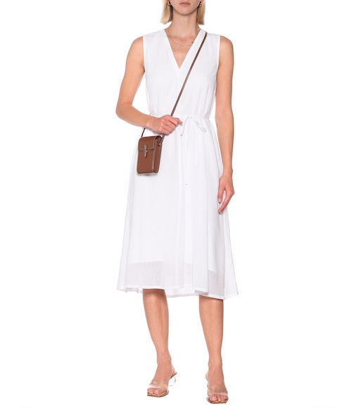 Vince - Drawstring cotton midi dress - mytheresa.com