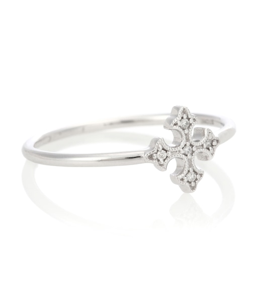 Stone Paris - Passion 18kt white gold ring with white diamonds - mytheresa.com