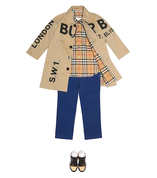 Burberry Kids - Cotton gabardine trench coat - mytheresa.com