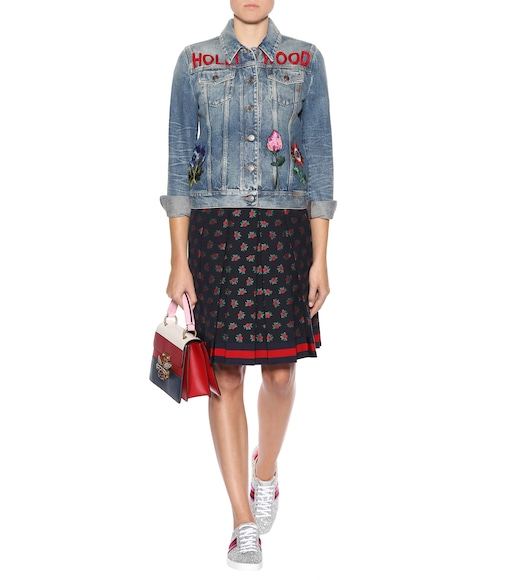 Gucci - Embroidered denim jacket - mytheresa.com