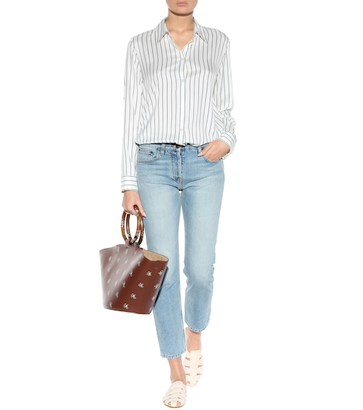 The Row - Peter striped silk shirt - mytheresa.com