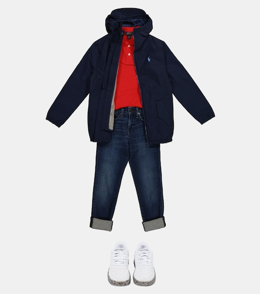 Polo Ralph Lauren Kids - Hooded jacket and knitted vest set - mytheresa.com