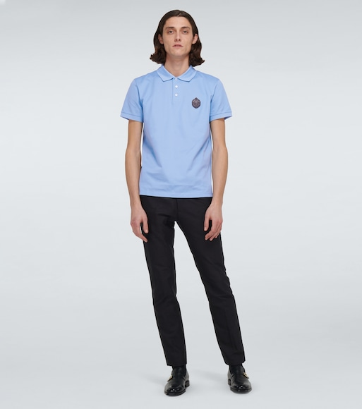 Berluti - Polo shirt with leather crest - mytheresa.com