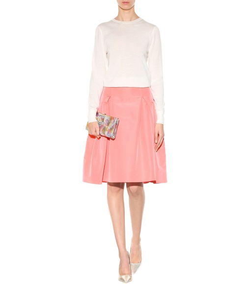 Carolina Herrera - Party silk skirt - mytheresa.com