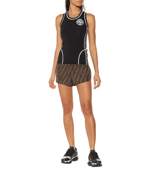 Fendi - Racerback technical fabric tank top - mytheresa.com