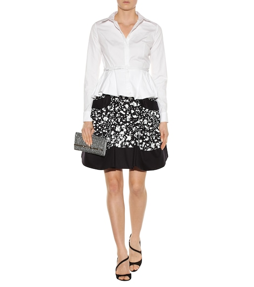 Carolina Herrera - Printed cotton skirt - mytheresa.com