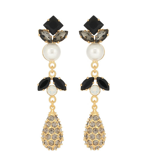 Erdem - Crystal-embellished faux pearl drop earrings - mytheresa.com