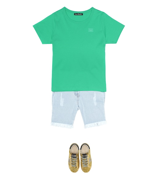 Acne Studios Kids - Camiseta Mini Nash Face de algodón - mytheresa.com