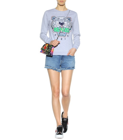 Kenzo - Embroidered cotton sweatshirt - mytheresa.com