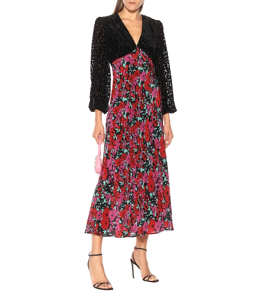 Rixo - Melanie floral silk midi dress - mytheresa.com
