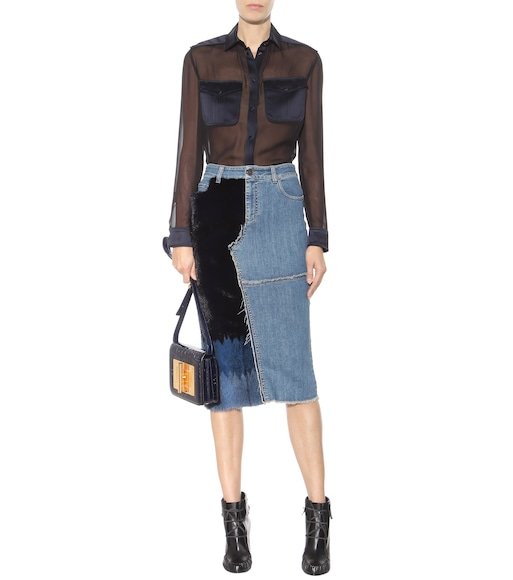 Tom Ford - Gonna di jeans con pelliccia - mytheresa.com