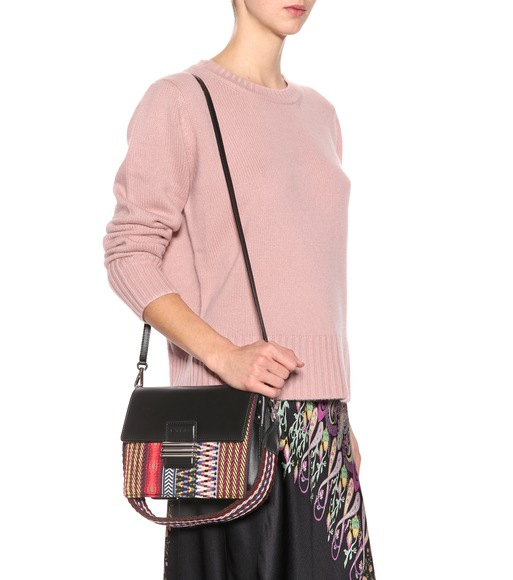 Sac cross-body en cuir tissé 5Rzd0v7