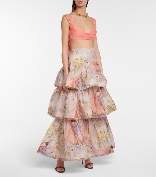 Zimmermann - Botanica linen and silk maxi skirt - mytheresa.com