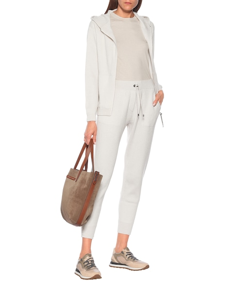 Brunello Cucinelli - Ribbed knit cashmere trackpants - mytheresa.com