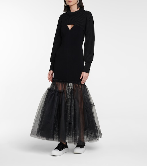 Alexander McQueen - Ribbed cotton shrug - mytheresa.com