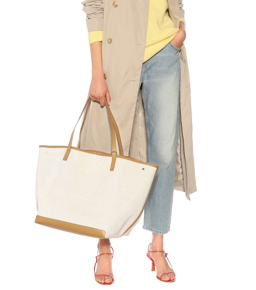 The Row - Park XL canvas and leather tote - mytheresa.com