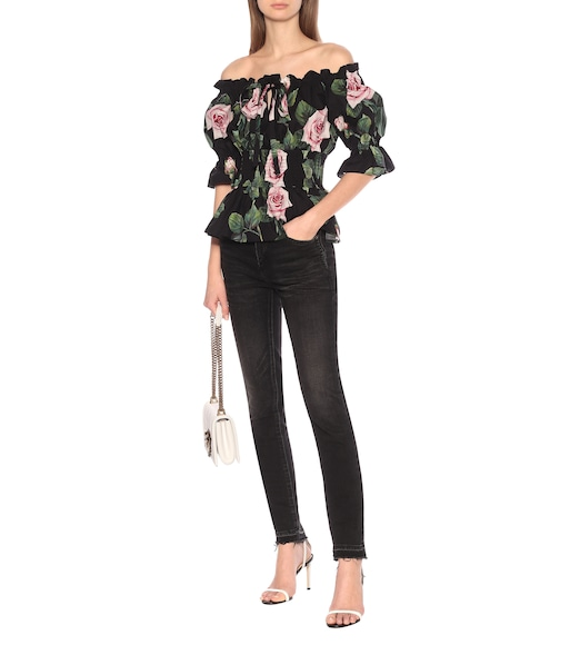 Dolce & Gabbana - Off-Shoulder-Top aus Baumwolle - mytheresa.com