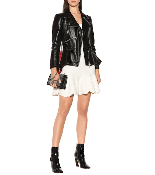 Alexander McQueen - Peplum leather jacket - mytheresa.com