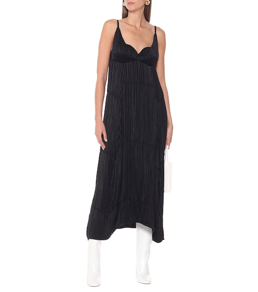 Jil Sander - Plissé georgette maxi dress - mytheresa.com