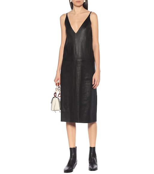 Stouls - Mahaut leather slip dress - mytheresa.com