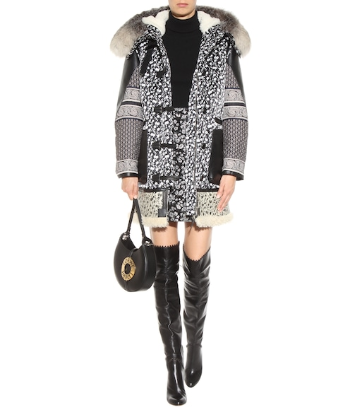Altuzarra - Smyrna floral-printed coat with fur - mytheresa.com