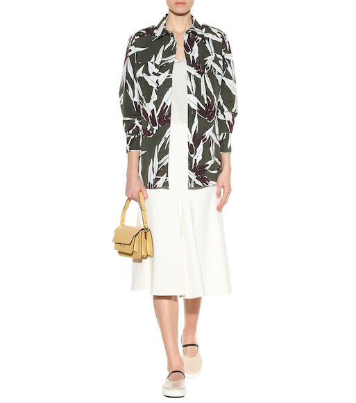 Marni - Printed cotton and linen-blend shirt - mytheresa.com