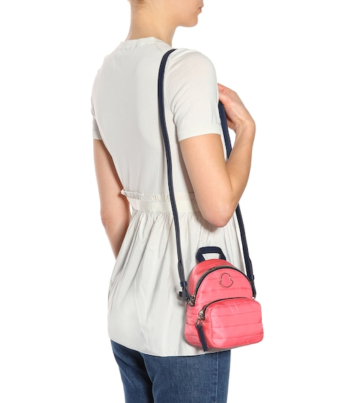 Perfect Cheap Online Leather-trimmed shoulder bag Moncler Free Shipping Clearance Store Clearance From China o6oeZ