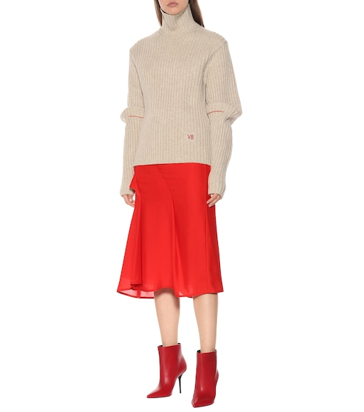 Victoria Beckham - Ribbed wool turtleneck sweater - mytheresa.com