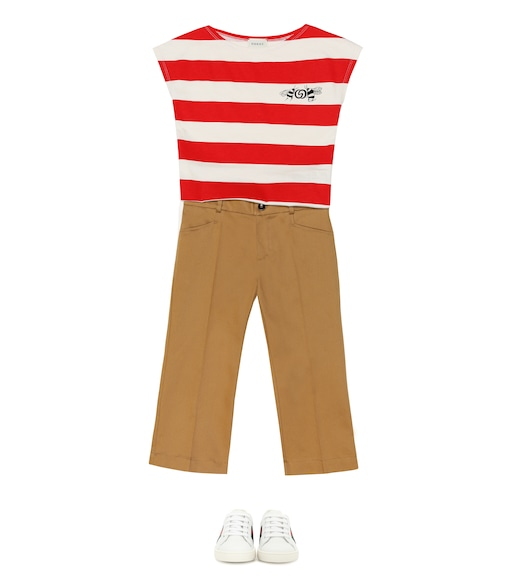 Gucci Kids - Logo striped cotton T-shirt - mytheresa.com