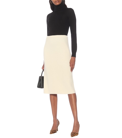 Loro Piana - Lexington ribbed-knit cashmere midi skirt - mytheresa.com