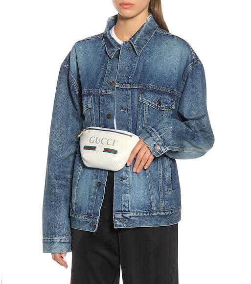 a4e749004a0 Gucci - Printed leather belt bag - mytheresa.com
